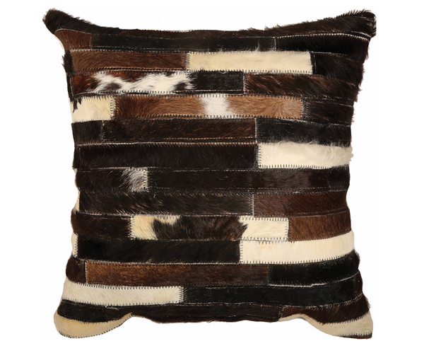 Black & White - Natural Beige Hair On Leather Front & Cotton Back - 95% Feather, 5% Down Filling 16x16-furniture stores regina-Hunters Furniture