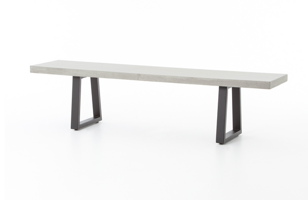 "BERLIN Grey Poly Resin - 73"" Dining Bench-furniture stores regina-Hunters Furniture"