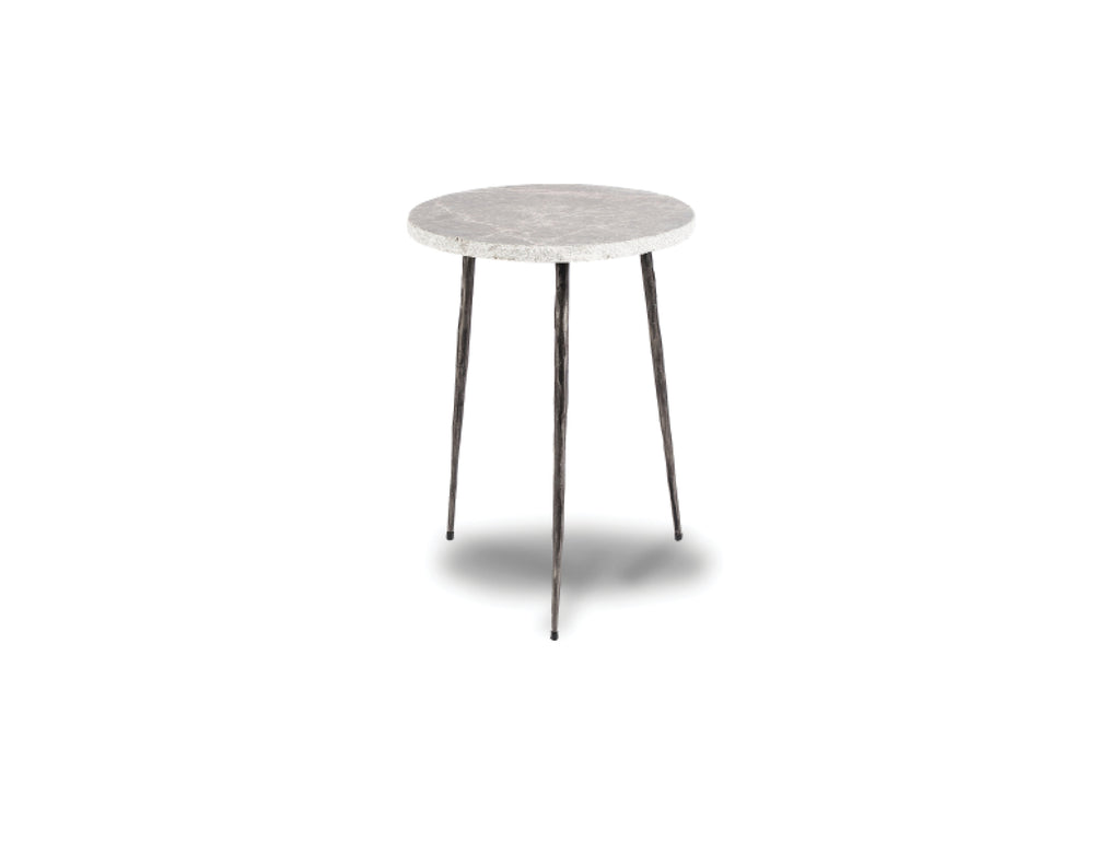 "635 Grey - Tall Marble - 13"" Side Table-furniture stores regina-Hunters Furniture"