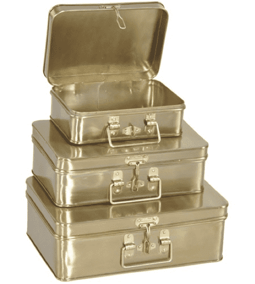 (Item Discontinued) Brass Box Medium-furniture stores regina-Hunters Furniture