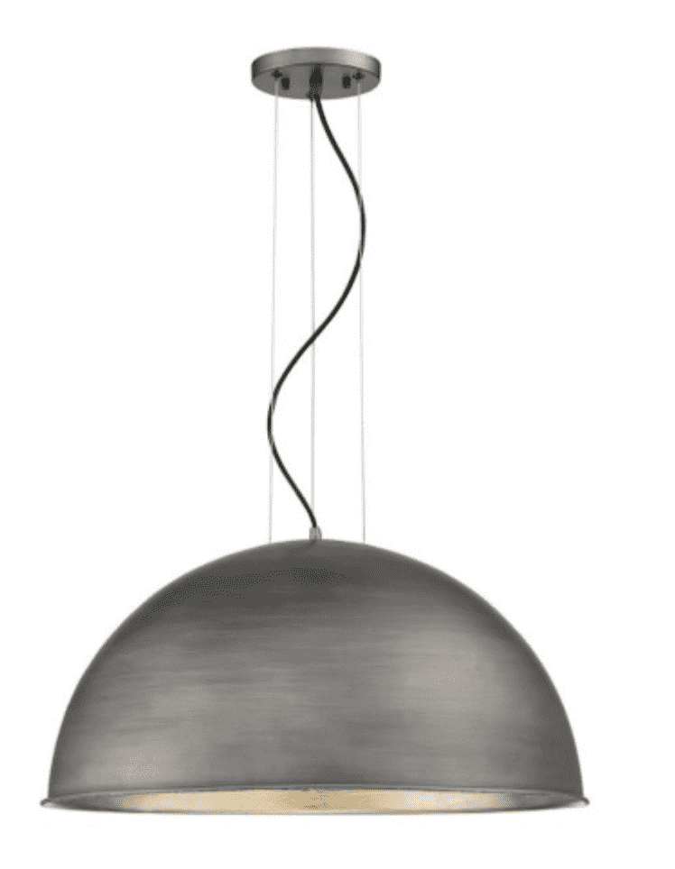 Sommerton 3 Light Pendant Rubbed Zinc w/ Silver Leaf-furniture stores regina-Hunters Furniture