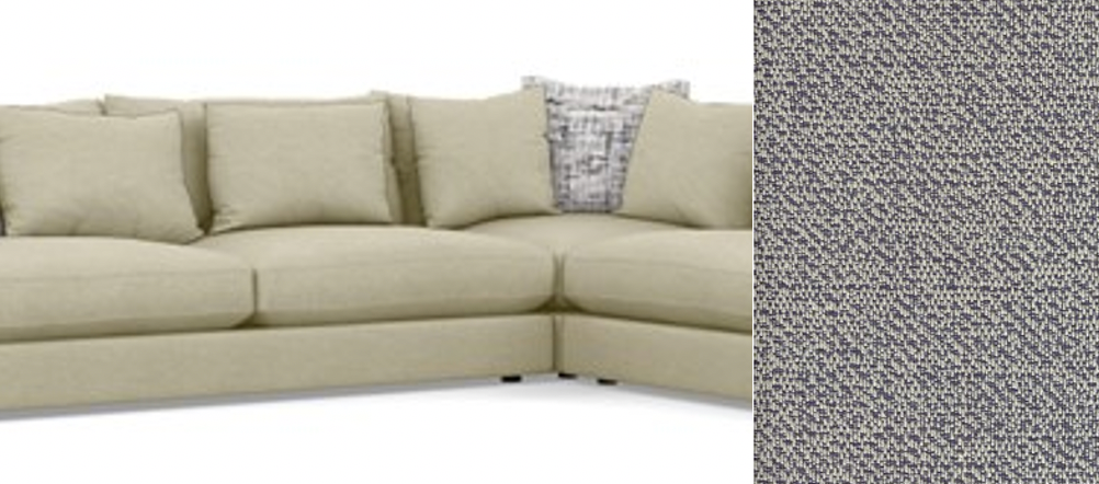 "WHISTLER 5 Pc SECTIONAL in 15 Streetsmart Denim Feather Soft 85""x130""x85""-furniture stores regina-Hunters Furniture"