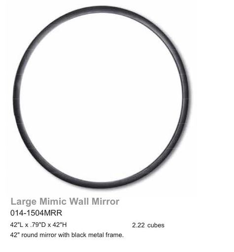 Large Mimic Round Wall Mirror-furniture stores regina-Hunters Furniture