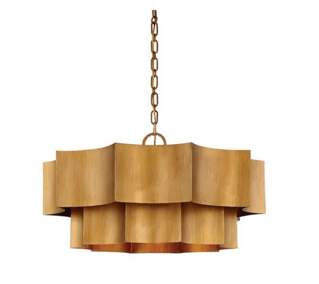 Shelby 6 Light Pendant Gold Gold Patina-furniture stores regina-Hunters Furniture