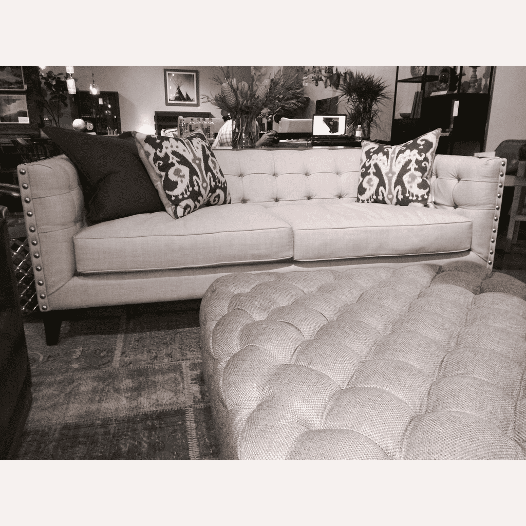 (Item Discontinued) Sofa Light Fabric 84L x 39W x 24H -  FINAL SALE!-furniture stores regina-Hunters Furniture