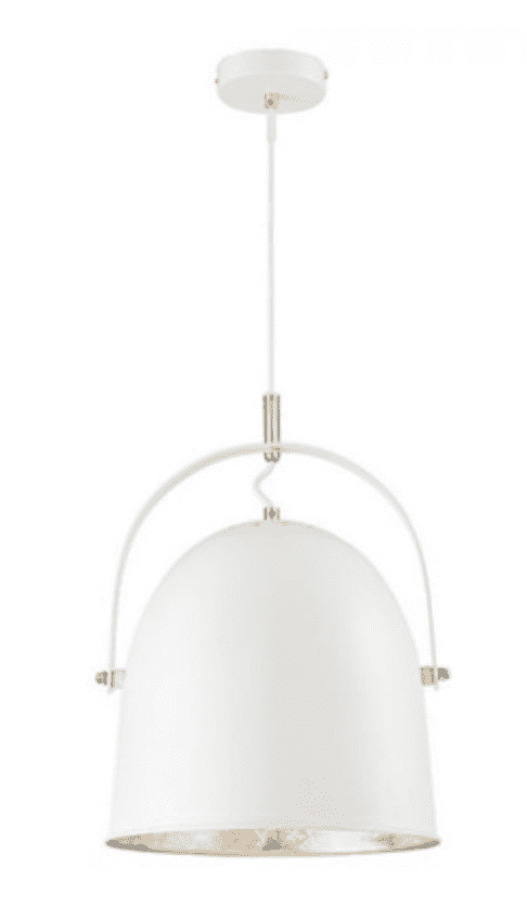Cypress 1 Light Pendant White with Silver Leaf-furniture stores regina-Hunters Furniture