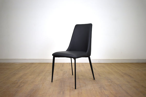 "NORTH DELTA Black Vegan Leather   -   35"" Dining Chair (5 Available, More Can be Ordered)"
