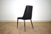 "NORTH DELTA Black Vegan Leather   -   35"" Dining Chair"