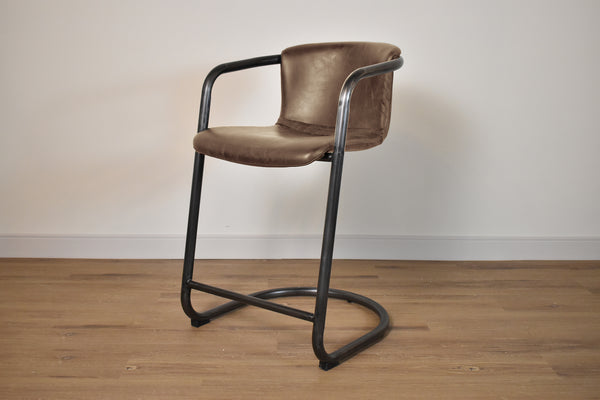 "BERLIN Brown Leather   -   40"" Bar Stool"