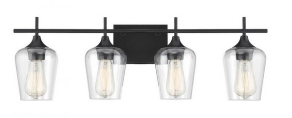 Octave 4 Light Bath Bar Black-furniture stores regina-Hunters Furniture