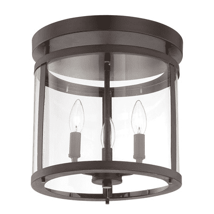 Penrose 3 Light Semi-Flush English Bronze-furniture stores regina-Hunters Furniture