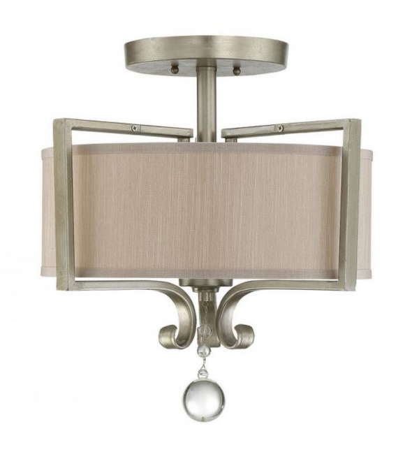 Rosendal Semi-Flush Silver Sparkle-furniture stores regina-Hunters Furniture
