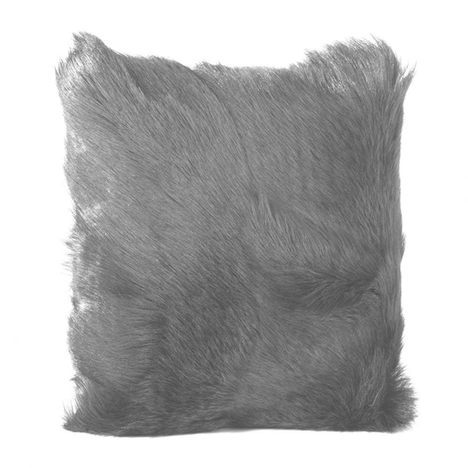 GOAT FUR PILLOW LIGHT GREY-furniture stores regina-Hunters Furniture