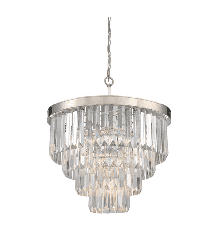(Item Discontinued) Tierney 6 Light Chandelier Polished Nickel-furniture stores regina-Hunters Furniture