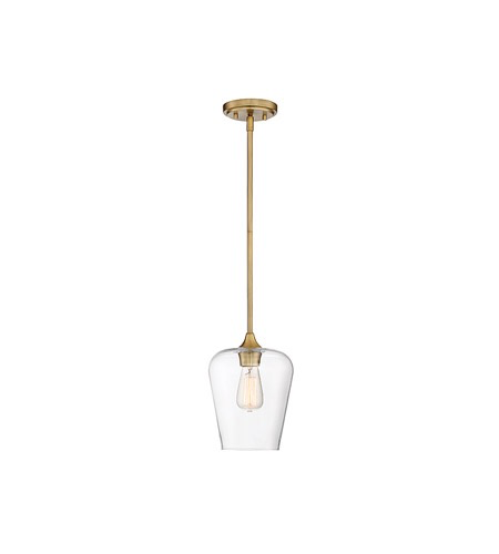 Octave 1 Light 8 inch Warm Brass Pendant Warm Brass-furniture stores regina-Hunters Furniture