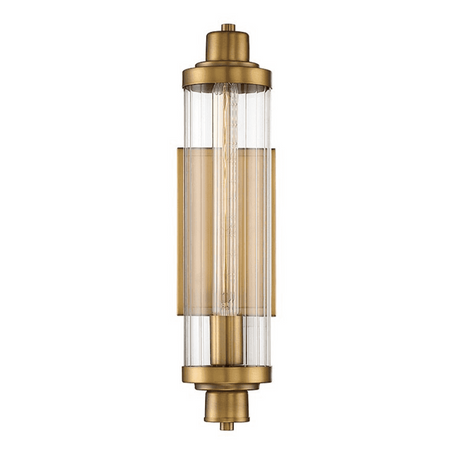 Pike 1 Light Wall Sconce Warm Brass-furniture stores regina-Hunters Furniture