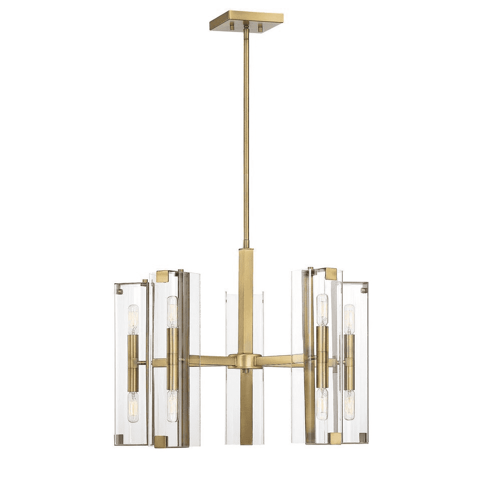 Winfield 10 Light Chandelier Warm Brass-furniture stores regina-Hunters Furniture
