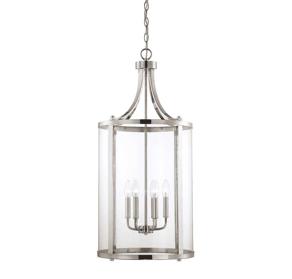 Penrose 6 Light Medium Foyer Lantern Polished Nickel-furniture stores regina-Hunters Furniture