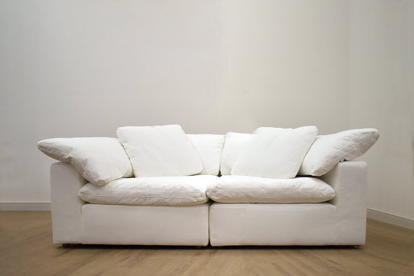 "SANTA MONICA Cream Fabric - 90"" Loveseat 90"" L x 45"" W x 33"" H-furniture stores regina-Hunters Furniture"