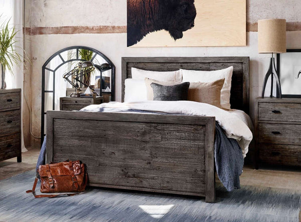 "CYPRESS Black Olive Wood - 86"" Queen Bed-furniture stores regina-Hunters Furniture"