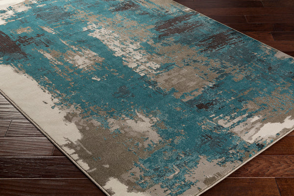 537 Polypropylene, Beige, Aqua, Taupe, Dark Brown, Camel Fabric - 5x7 Rug-furniture stores regina-Hunters Furniture
