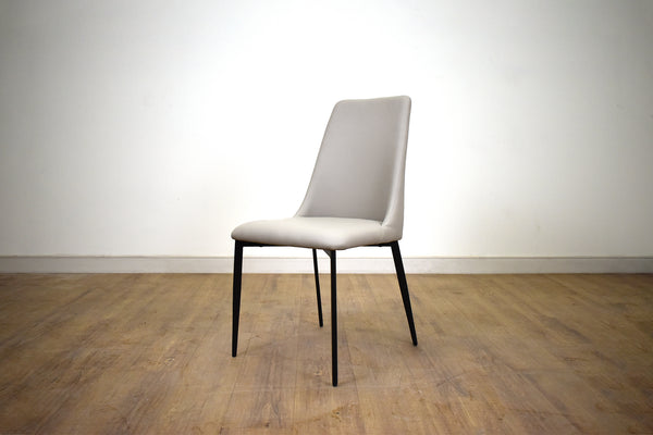 "NORTH DELTA Taupe Vegan Leather   -   35"" Dining Chair"