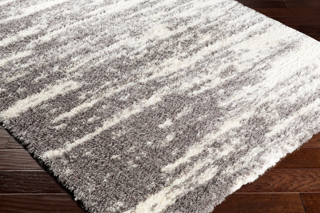 541 Polyester, Medium Grey & White Fabric - 5x7 Rug-furniture stores regina-Hunters Furniture