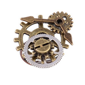 Wonderful Design 30*25mm Surface Different Gear Components and Clock Pointer Steampunk Ring Accessory