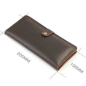 Leather Card Wallet Casual Genuine Leather Men Travel Solid Wallets