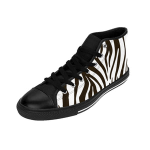 Women's Zebra High-top Sneakers