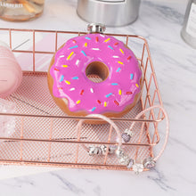 Pink Frosted Sprinkles Doughnut Stainless Steel Hip Flask