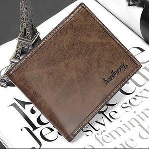 Baellery Trifold Men Wallet Leather Purse Fashion Small Vallet Brand Card Holder Mens Money Wallet Portomonee Wholesale Price