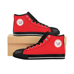 Women's Weekly Humorist Team High-top Sneakers Red
