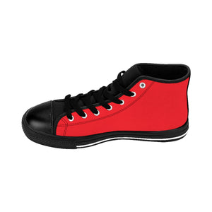 Men's Weekly Humorist Team High-top Sneakers Red