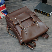 Vintage Hasp England Style Leather Backpack