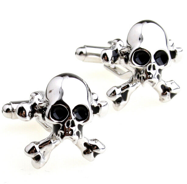 Polished Skull Cuff Links
