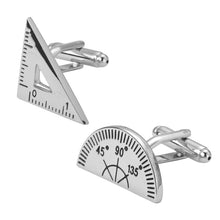 Protractor Mathematics Triangle Engraved Cufflinks