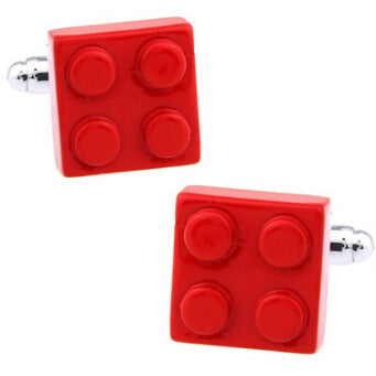 Red Bricks Cuff Links