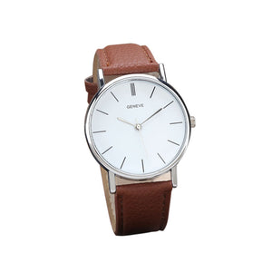 Casual Leather Band Analog Quartz Wrist Watch