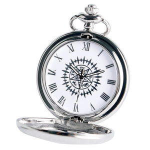 Quartz Victorian Pendant Chain Pocket Watch