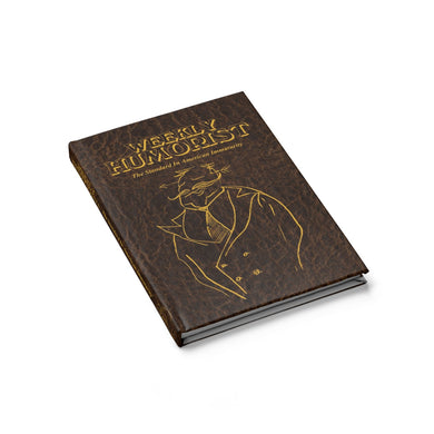 Weekly Humorist Printed Leather Journal
