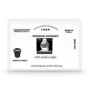 Weekly Humorist's Jarvis Java 12 Pack Single Serve Coffee Capsules