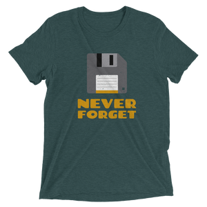 Floppy Disk Never Forget Short sleeve t-shirt