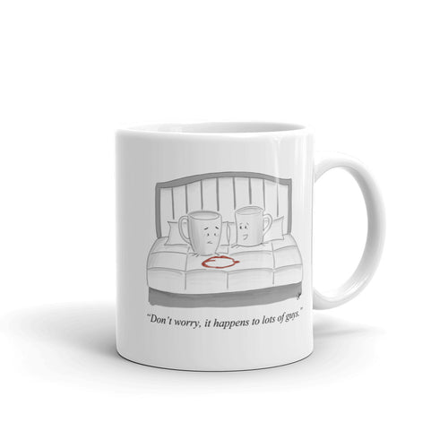 Don't Worry, It Happens Cartoon Mug