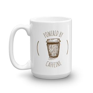 'Powered By Caffeine' Mug