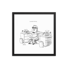 'Stereotyping' Cartoon Framed print