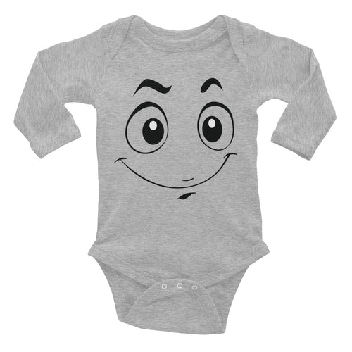 Smile Face Infant Long Sleeve Bodysuit