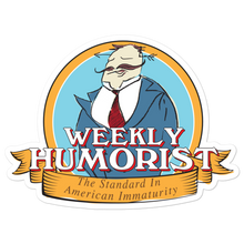 Weekly Humorist Jarvis Crest Bubble-free stickers