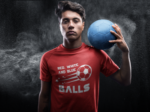 Red, White, and Blue Balls USA Soccer Short sleeve t-shirt