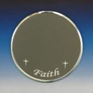 "Mirror-3"" Round Faith"